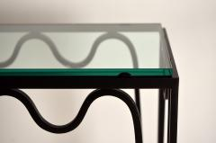 Design Fr res Undulating M andre Wrought Iron and Glass Console by Design Fr res - 1339925