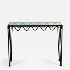 Design Fr res Undulating M andre Wrought Iron and Glass Console by Design Fr res - 1341627