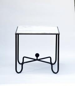 Design Fr res Wrought Iron and Marble Entretoise Side Table by Design Fr res - 1088059