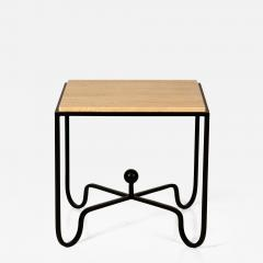 Design Fr res Wrought Iron and Travertine Entretoise Side Table by Design Fr res - 1341626