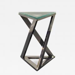 Design Institute America Design Institute of America Chrome and Glass Side Table - 1483441