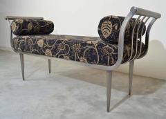 Design Institute America Design Institute of America DIA Hollywood Regency Style Brushed Nickel Bench - 1776041
