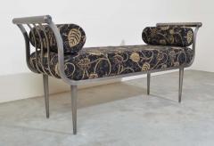 Design Institute America Design Institute of America DIA Hollywood Regency Style Brushed Nickel Bench - 1776042