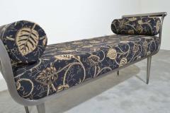 Design Institute America Design Institute of America DIA Hollywood Regency Style Brushed Nickel Bench - 1776044