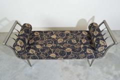 Design Institute America Design Institute of America DIA Hollywood Regency Style Brushed Nickel Bench - 1776045
