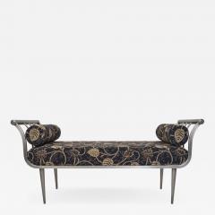Design Institute America Design Institute of America DIA Hollywood Regency Style Brushed Nickel Bench - 1776204