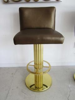 design for leisure ltd three mid century modern bar stools in the style of karl springer