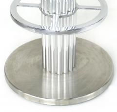 Designs for Leisure Ltd Design for Leisure Stainless and Leather Bar Stools Set of 4 Swivel Stools - 1240333