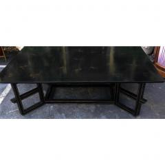 Dessin Fournir Companies Charles Fradin for Dessin Fournir Black Lacquer Decorated Coffee Table - 1654290