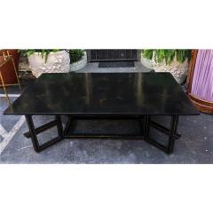 Dessin Fournir Companies Charles Fradin for Dessin Fournir Black Lacquer Decorated Coffee Table - 1654291