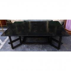 Dessin Fournir Companies Charles Fradin for Dessin Fournir Black Lacquer Decorated Coffee Table - 1654292