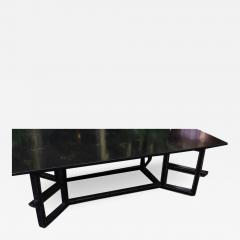 Dessin Fournir Companies Charles Fradin for Dessin Fournir Black Lacquer Decorated Coffee Table - 1656307