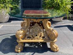 Dessin Fournir Companies Quatrain Regency Giltwood Rococo Center Table - 1622137
