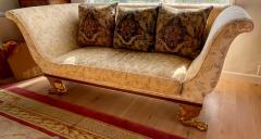 Dessin Fournir Companies Quatrain Regency Style Giltwood Mahogany Sofa Dessin Fournir - 1932451