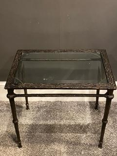 Diego Giacometti BRONZE DIEGO GIACOMETTI STYLE BRUTALIST SIDE TABLE - 1388540