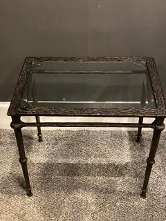 Diego Giacometti BRONZE DIEGO GIACOMETTI STYLE BRUTALIST SIDE TABLE - 1388542