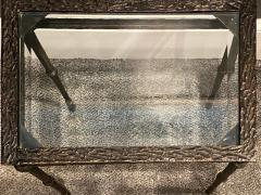 Diego Giacometti BRONZE DIEGO GIACOMETTI STYLE BRUTALIST SIDE TABLE - 1388548