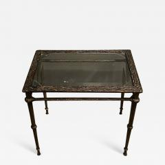 Diego Giacometti BRONZE DIEGO GIACOMETTI STYLE BRUTALIST SIDE TABLE - 1389503