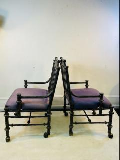Diego Giacometti BRUTALIST PAIR OF METAL ARM CHAIRS IN THE MANNER OF DIEGO GIACOMETTI - 1804615