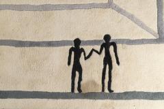 Diego Giacometti Diego Giacometti Carpet La Rencontre Signed circa 1984 France - 1103823
