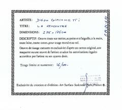 Diego Giacometti Diego Giacometti Carpet La Rencontre Signed circa 1984 France - 1103831