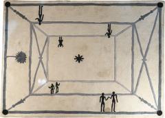 Diego Giacometti Diego Giacometti Carpet La Rencontre Signed circa 1984 France - 1104219