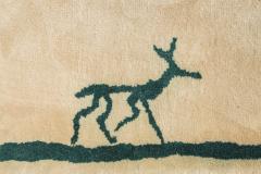 Diego Giacometti Diego Giacometti Carpet Promenade des Amis Signed circa 1984 France - 1103808