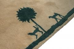 Diego Giacometti Diego Giacometti Carpet Promenade des Amis Signed circa 1984 France - 1103809