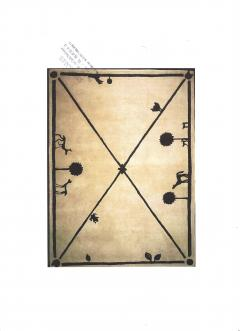 Diego Giacometti Diego Giacometti Carpet Promenade des Amis Signed circa 1984 France - 1103816