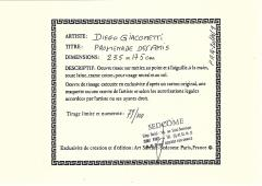 Diego Giacometti Diego Giacometti Carpet Promenade des Amis Signed circa 1984 France - 1103819