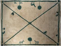 Diego Giacometti Diego Giacometti Carpet Promenade des Amis Signed circa 1984 France - 1104218