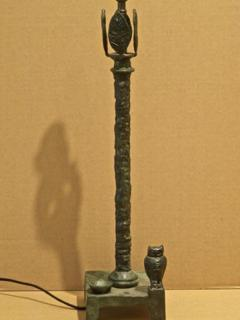 Diego Giacometti Diego Giacometti Patinated Bronze Lamp - 1611862