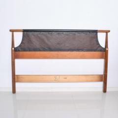 Dillingham Manufacturing Company Mid Century Modern Dillingham Tufted Walnut Headboard Full Size - 1256523