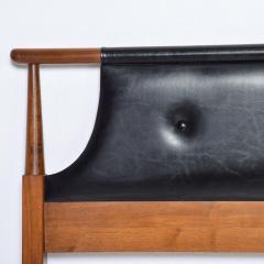 Dillingham Manufacturing Company Mid Century Modern Dillingham Tufted Walnut Headboard Full Size - 1256527