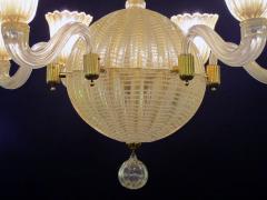 Dino Martens A good quality Murano 6 light spheroid chandelier by Dino Martens - 700750