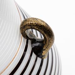 Dino Martens Dino Martens for Aureliano Toso Huge White and Black Goose Neck Murano Vase - 831948
