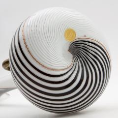 Dino Martens Dino Martens for Aureliano Toso Huge White and Black Goose Neck Murano Vase - 831951