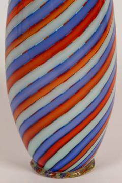 Dino Martens Striking Italian Ribbon Glass Vase by Dino Martens for Aureliano Toso - 254463