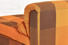 Directional Chaise Lounge Silk Fabric 1980 s - 1911666