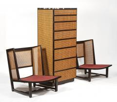 Directional Directional Chest of Drawers in Basket Weave Cane and Mahogany with Marble Top - 1162584