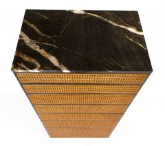 Directional Directional Chest of Drawers in Basket Weave Cane and Mahogany with Marble Top - 1162586