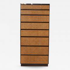 Directional Directional Chest of Drawers in Basket Weave Cane and Mahogany with Marble Top - 1163142