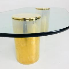 Directional Double Brass Pedestals Coffee Table by Directional - 543932