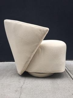 Directional Pair of Sculptural Swivel Lounge Chairs by Directional - 1121082