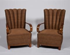Dominique Dominique Pair of High Backed Armchairs - 233817