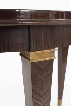 Dominique French Art Deco Macassar Ebony Round Dining Table By Dominique    407571