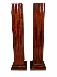 Dominique Pair Fine Art Deco Palisander Pedestals Dominique - 720539