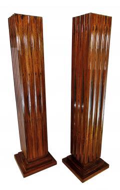 Dominique Pair Fine Art Deco Palisander Pedestals Dominique - 721642