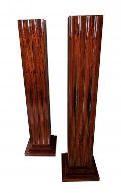 Dominique Pair Fine Art Deco Palisander Pedestals Dominique - 723395