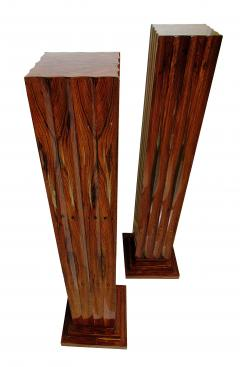 Dominique Pair Fine Art Deco Palisander Pedestals Dominique - 723398